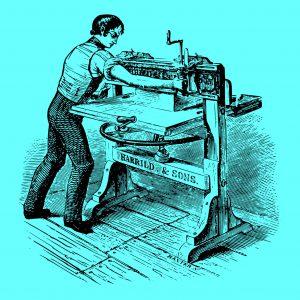 Antike Druck-Presse