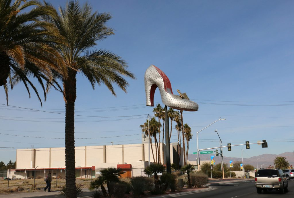 High heel on Las Vegas Boulevard