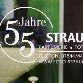 Jubiläums-Logo Parfümerie & Fotografie Strauch Markdorf